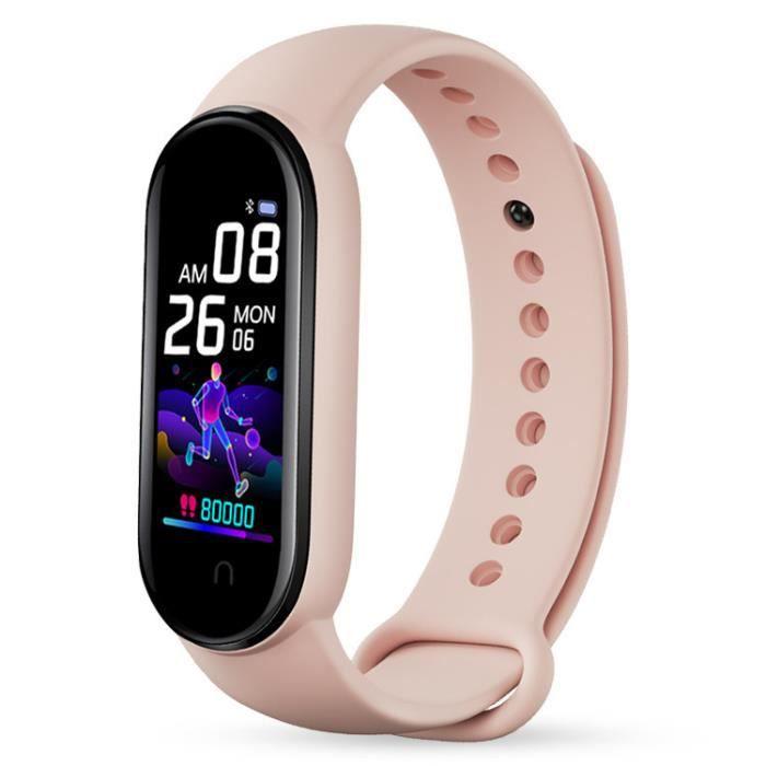 Podomètre de sport à bracelet intelligent, fréquence cardiaque, rappel d'appel, bracelet de sport multifonctionnel -A