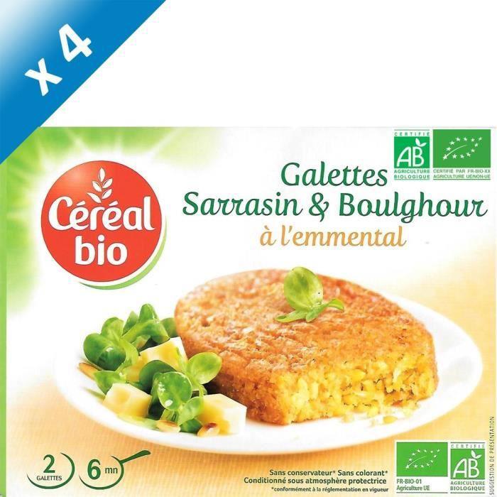 [LOT DE 4] CEREAL BIO Galettes de céréales cuisinées à base de boulghour, de sarrasin et de fromage Bio - 200 g