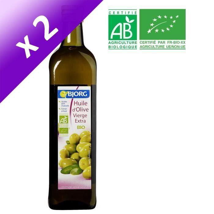 [LOT DE 2] BJORG Huile d'Olive vierge extra Bio - 75 cl
