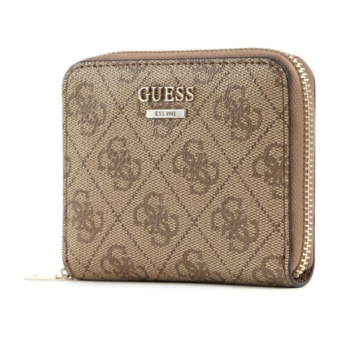 GUESS Cathleen SLG Small Zip Around Brown [100182]