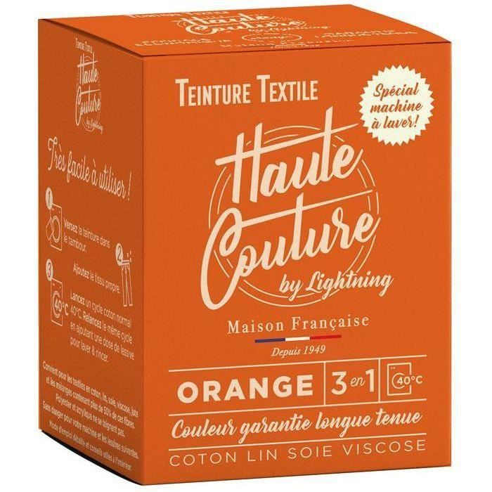 Teinture textile haute couture orange 350g