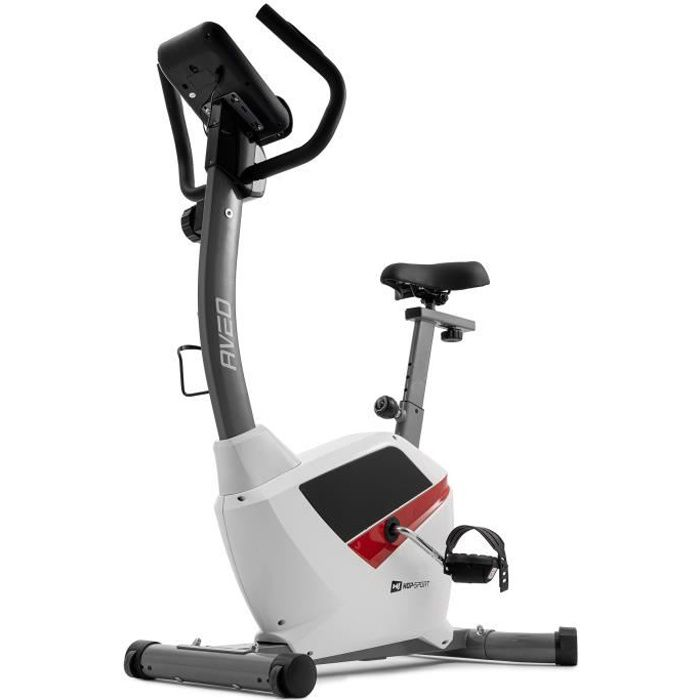 HS Hop-sport Vélo d'appartement magnétique HS-2090H Aveo, Volant d'inertie de 9 kg, 8 niveaux Compact, stable, réglable (blanc)