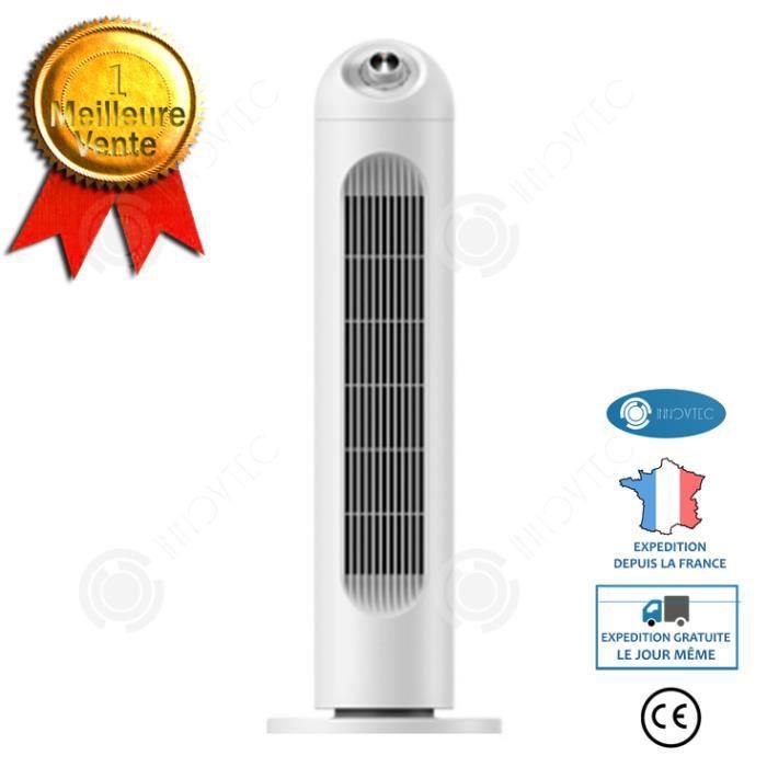 INN® Ventilateur de tour ménage tridimensionnel ventilateur électrique blanc de taille moyenne ventilateur de tour de ménage ventila
