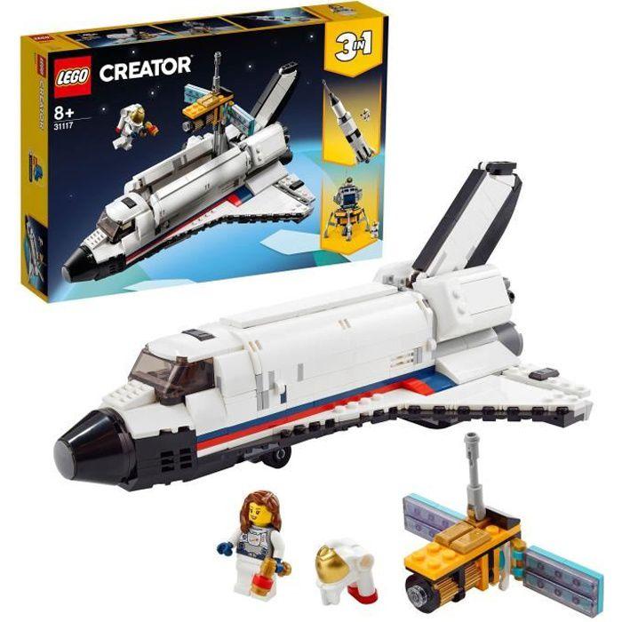 LEGO® 31117 Creator 3-en-1 L'aventure en navette spatiale jouet Fusée Enfant et Atterrissage Lunaire – Construction de Véhicules