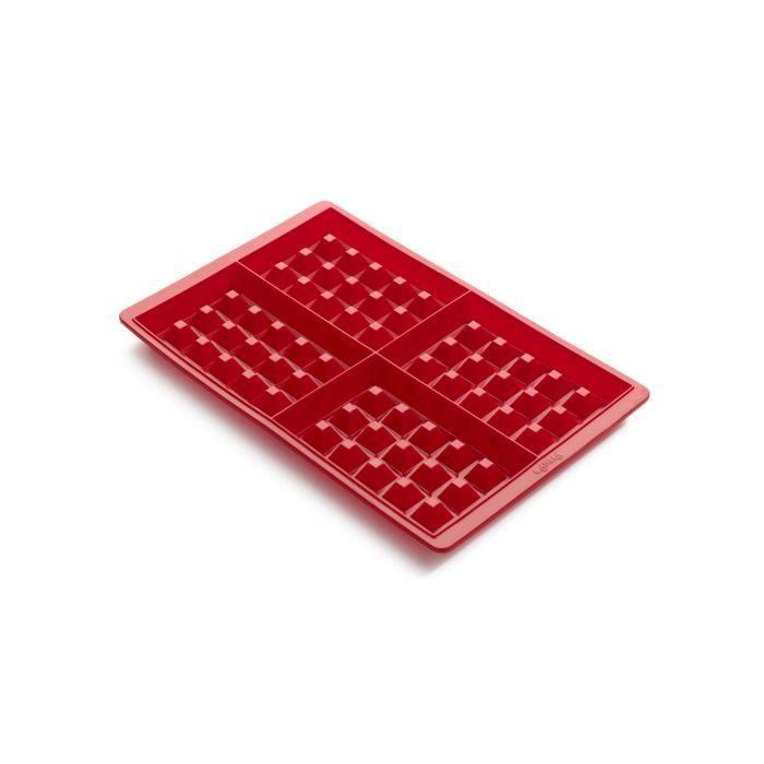 LEKUE Moule à gaufres en silicone (2 plaques)