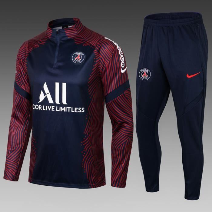 Survêtement de Foot Homme 2021-2022 Nouveau Maillot de Football Pas Cher Survet Kit