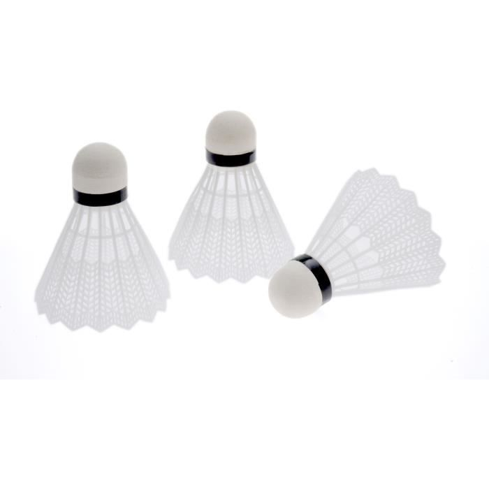 Lot de 3 volants de badminton