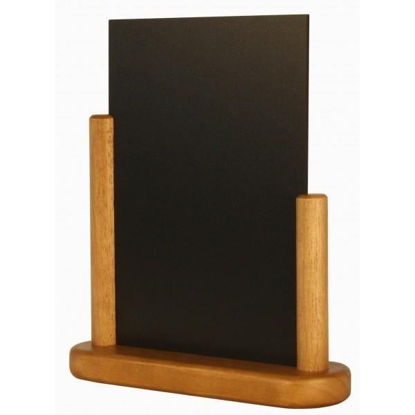 Porte-menu de table cadre bois coloris teck A5
