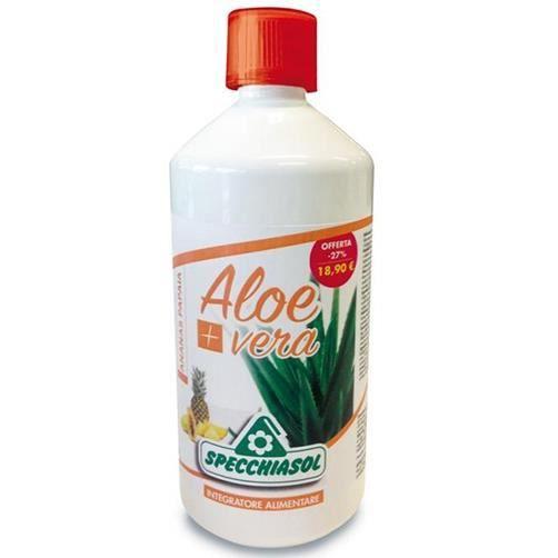 Specchiasol Aloe Vera+ Gusto Ananas E Papaia Integratore Alimentare 1 l