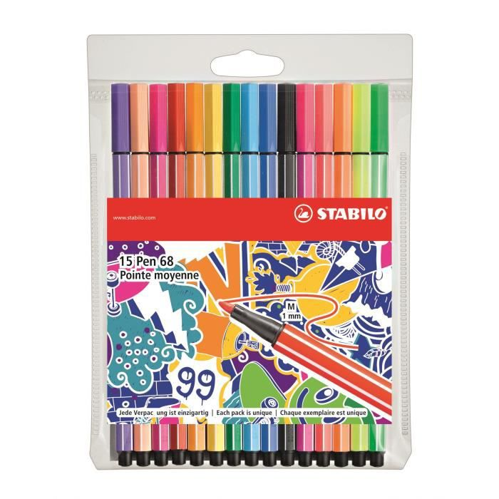 STABILO 15 stylos-feutres -Individual just like you- - Point 68