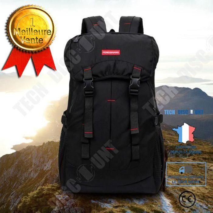 TD® Sac à dos de randonnée volume 50L plein air Sac Camping Voyage Sac à dos étanche Alpinisme imperméable ultra résistant