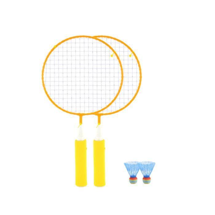 1 ensemble enfants raquette de Badminton couleur élargir la Portable Sports de plein RAQUETTE DE BADMINTON - CADRE DE BADMINTON