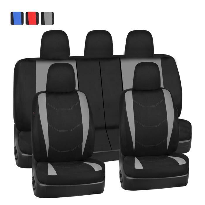 HOUSSES SIÈGE UNIVERSELLE VOITURE complet Airbag noir lavable compatible sport