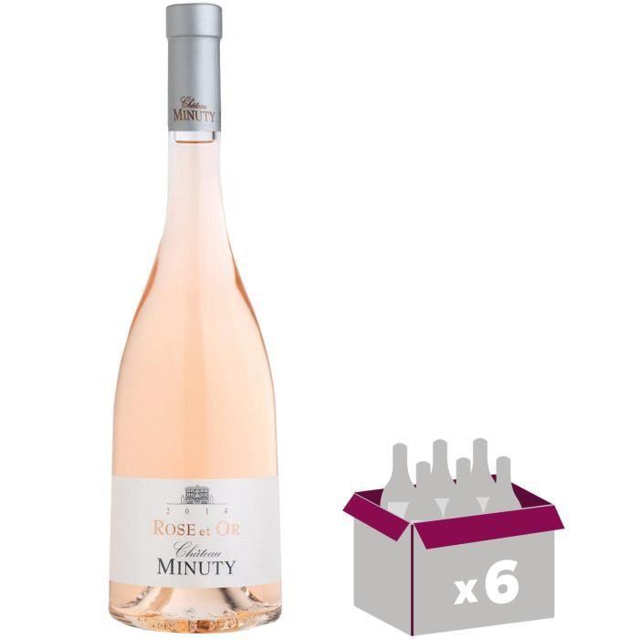 VIN ROSÉ Lot  de 6 Château Minuty Rose et Or 2018 Côtes de