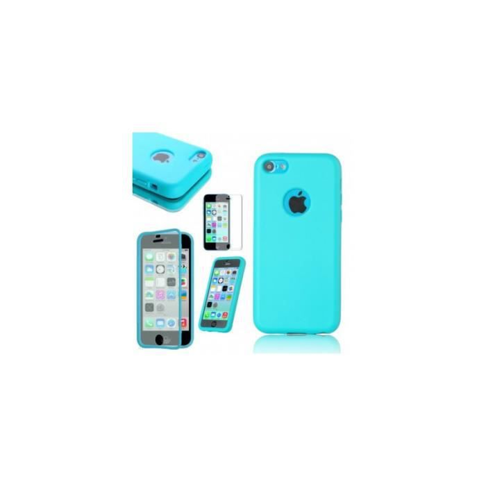 Coque etui housse flip cover silicone gel iphone 5 5s bleu for Etui housse iphone 5