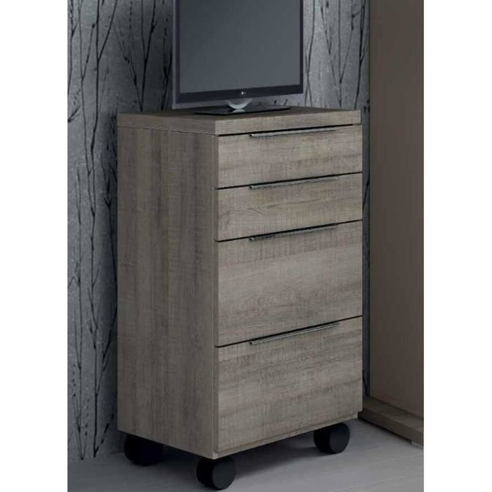 chiffonnier sur roulette 4 tiroirs achat vente commode semainier chiffonnier sur roulette. Black Bedroom Furniture Sets. Home Design Ideas