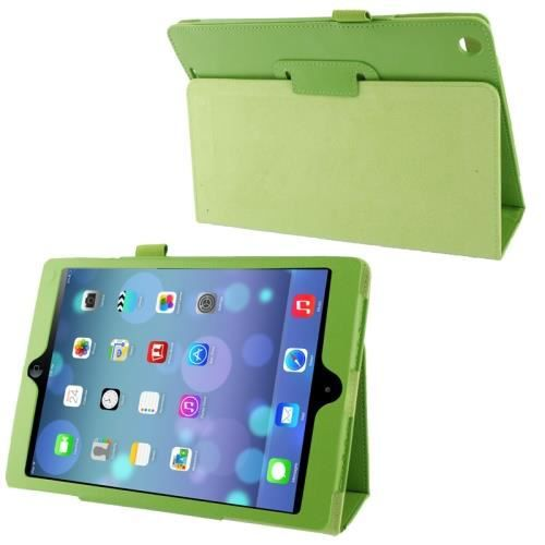Ipad 5 air coque housse de protection cuir vert for Housse protection ipad