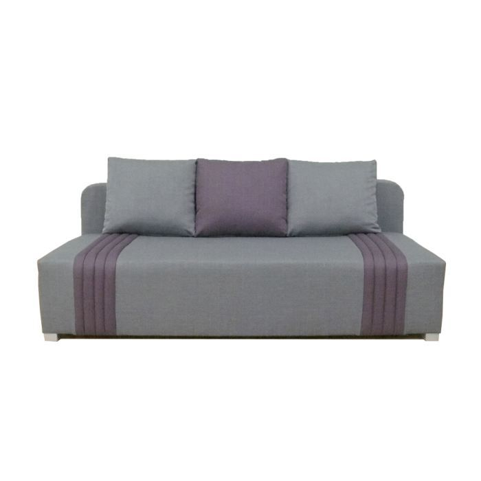 canap clic clac doris 3 places gris et violet achat. Black Bedroom Furniture Sets. Home Design Ideas