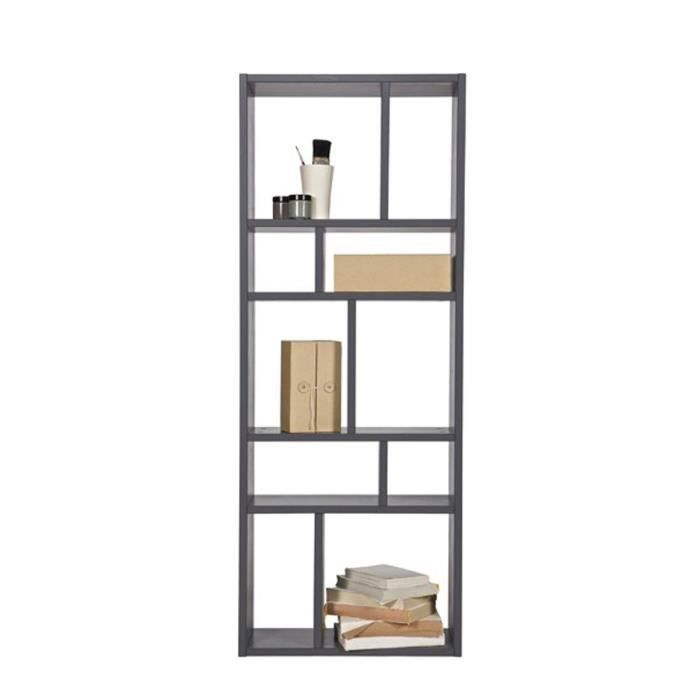 biblioth que grise 10 niches margriet couleur gris achat. Black Bedroom Furniture Sets. Home Design Ideas