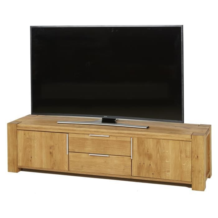 diego 2 meuble tv classique en bois massif naturel huil. Black Bedroom Furniture Sets. Home Design Ideas