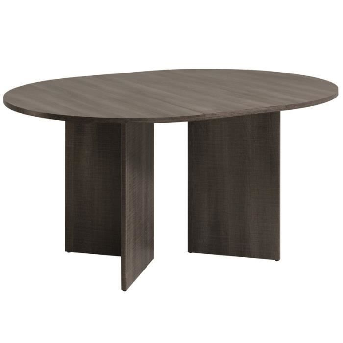 paris prix table de salle manger ronde lois marron achat vente table a manger seule. Black Bedroom Furniture Sets. Home Design Ideas