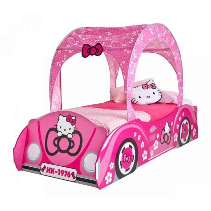 lit voiture hello kitty 90x190 achat vente structure de lit lit voiture hello kitty 90x190. Black Bedroom Furniture Sets. Home Design Ideas