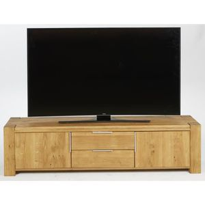meuble tv bois massif achat vente pas cher cdiscount. Black Bedroom Furniture Sets. Home Design Ideas