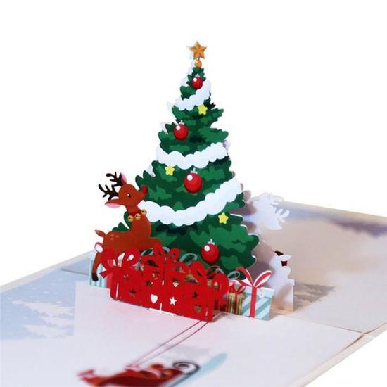 Ferris roue à la main carte de voeux Kirigami Noël enfants anniversaire