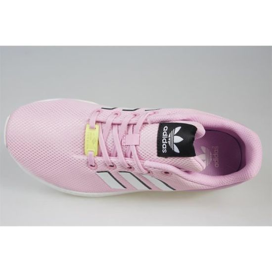 01f9cbb983908 Chaussures Adidas ZX Flux J Rose Rose - Achat   Vente basket - Cdiscount