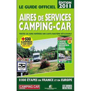 AUTRES LIVRES GUIDE OFFICIEL DES AIRES DE SERVICES CAMPING CARS