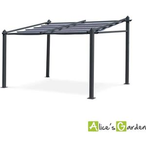 PERGOLA Tente de jardin murale, pergola aluminium 3x4m Mur