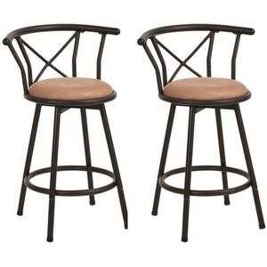 TABOURET DE BAR FurnitureR Lot de 2 Tabourets de Bar Assise Pivota