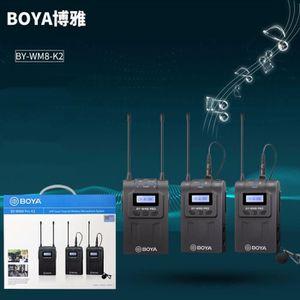 MICROPHONE EXTERNE BOYA BY-WM8 Pro-K2 sans fil UHF Enregistreur Audio