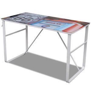 BUREAU  R196 Ce bureau solide, avec un plateau aux dimensi