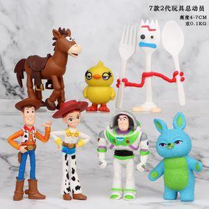 ROBOT - ANIMAL ANIMÉ 7 pcs / ensemble Toy Story 4 Buzz Lightyear Boisée