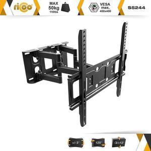 FIXATION - SUPPORT TV RICOO Support TV Mural orientable inclinable S5244