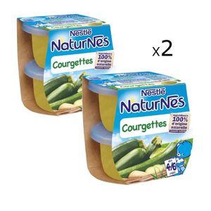 LÉGUMES CUISINÉS [LOT DE 2] NESTLÉ Naturnes Courgettes - 2x130 g -