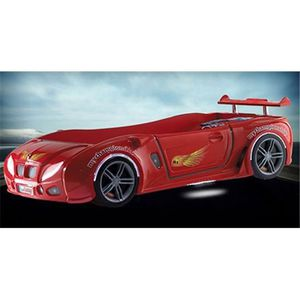 STRUCTURE DE LIT Lit enfant voiture racing Airone rouge