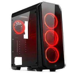 UNITÉ CENTRALE  Pc Gamer Deathmatch 8 Red AMD Ryzen 5 3600X - Vidé