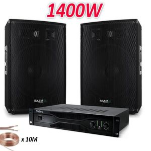 PACK SONO PACK SONO 1400W AVEC AMPLI SONO IBIZA de 2x 350W +