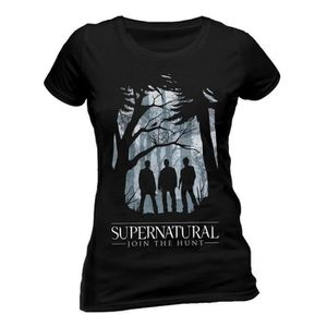 T-SHIRT Ladies Supernatural Group Outline Winchester Autor