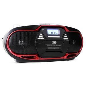 RADIO CD CASSETTE TREVI 0057402 Radio CD Cassette - USB - Noir et ro