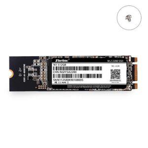 DISQUE DUR SSD Zheino Disque dur interne SSD M.2 2280 512Go msata
