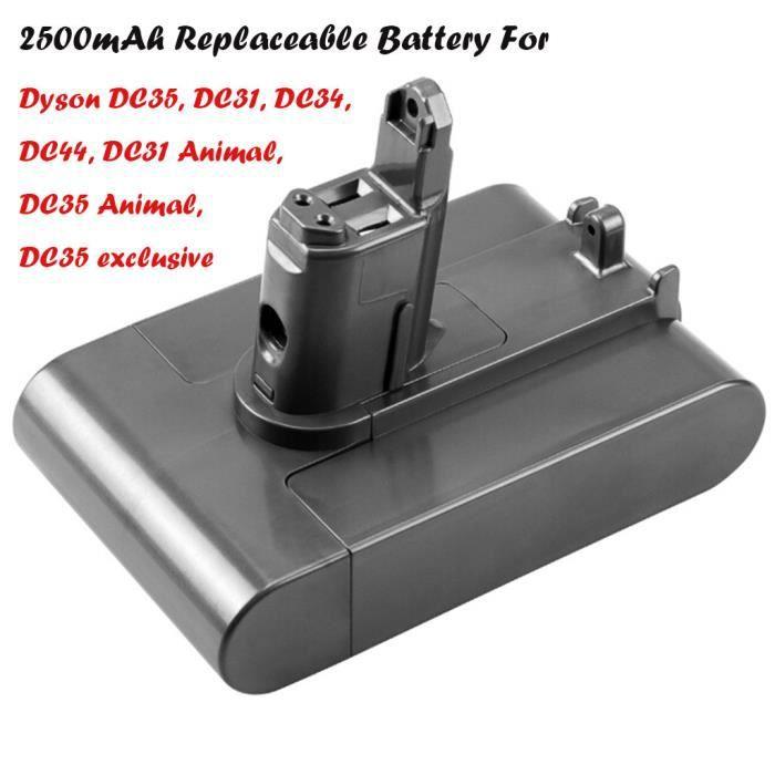 Remplacement de batterie de 22.2V 2500mAh Li-ion pour Dyson DC31 / pour DC31Animal / DC34 / DC35