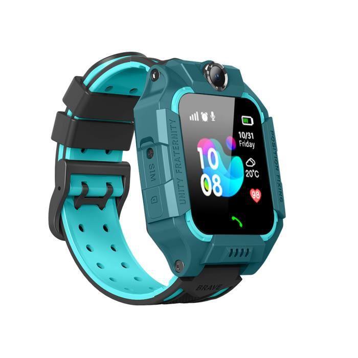 Montre Connectée Enfant 32 Mo + 32 Smartwatch LBS Tracker avec Caméra Appel SOS Calendrier Réveil pour Android iOS-Vert
