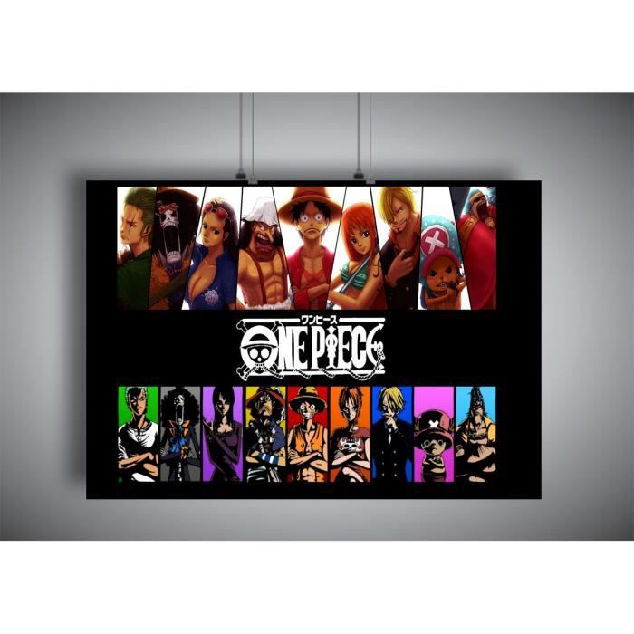 Poster One Piece All Characters Anime Manga - A3 (42x29,7cm)