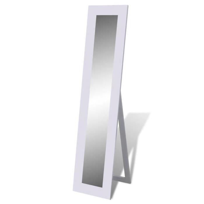 Miroir Psyché En Pied : Design Intemporel&Style Sobre - Entrée&Salon&Chambre&Dressing - Blanc - 150 x 36 x 39 Cm