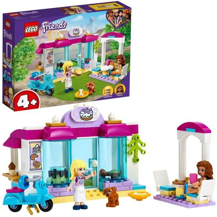 LEGO® 41440 Friends La Boulangerie de Heartlake City Set de Jeu avec Les Minidolls Stéphanie et Olivia pour Enfant de 4 Ans et +