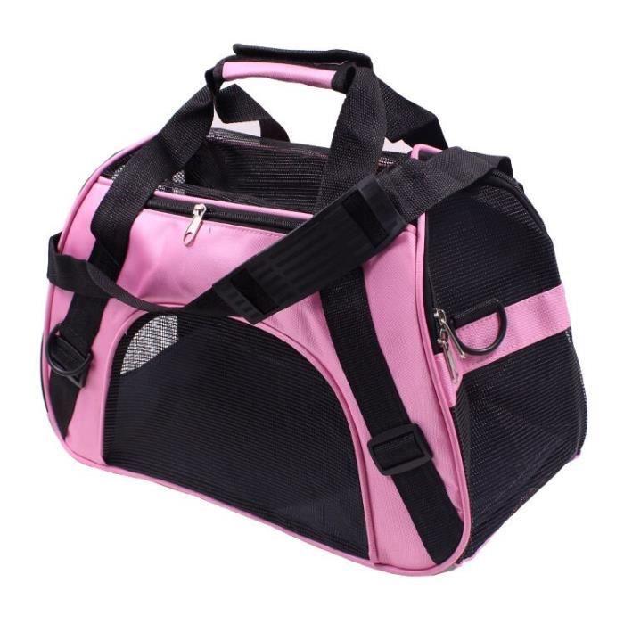 Sac de transport,Sac de transport pour chiens Sac de transport pour chiens d'extérieur, sac pour chien de compagnie - Type Pink-L