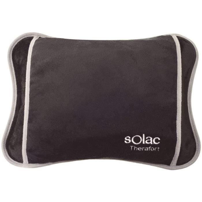 Solac, Bouillotte électrique CALDEA, CB8981, S95505800, 100W, Tissu Soft Touch, Bleu/Gris, 27x21 CM